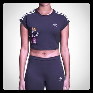 New Adidas Crop Top  T-Shirt
